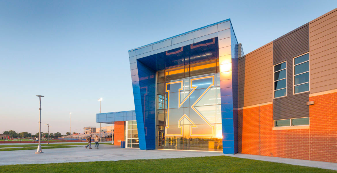 Midwest School Displays Signature Colored And Modern ...