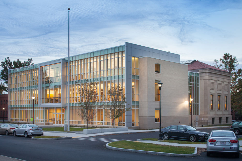 Holyoke Public Library, Massachusetts, Finegold Alexander Architects, Fontaine Brothers, Great Lakes Metal Panels, CEI Materials, R4000