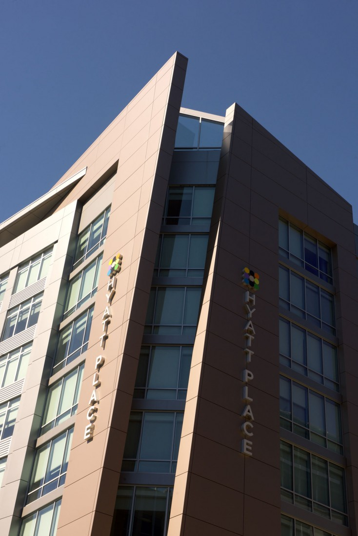 Hyatt Place Courthouse, Arlington, Virginia, WDG Arch, Gordon Greenberg Architecture, LEED Gold, CEI Materials R4000