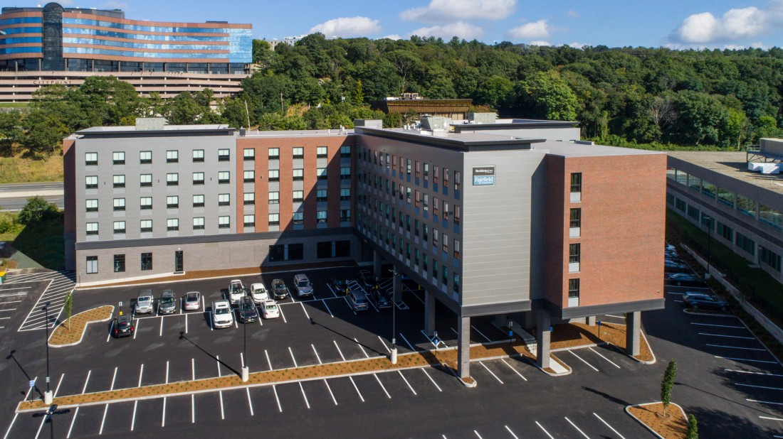 Photograph courtesy of Residence Inn/Fairfield Inn & Suites by Marriott Boston Waltham and JS Photography