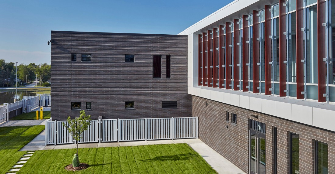 Michigan Police Station, Michigan City, Illinois, American Structurepoint, Larson Danielson Construction Company, CEI Materials R4000 Rainscreen System
