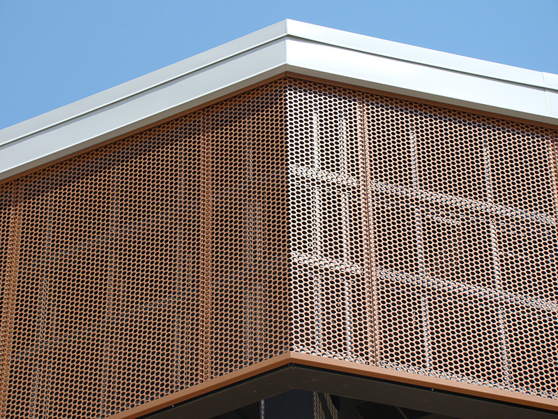 Phenolic Panels Fabrication Chicago IL - Installation - CEI Materials - Perforated
