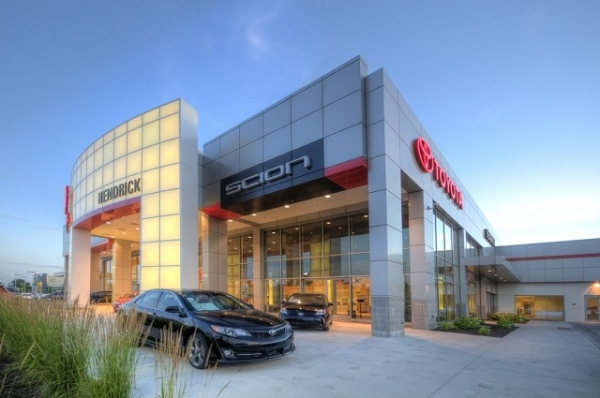 Architectural Metal Washington DC - Exterior Cladding - CEI Composite Materials - _2_-_Hendrick_Toyota_-_Automotive