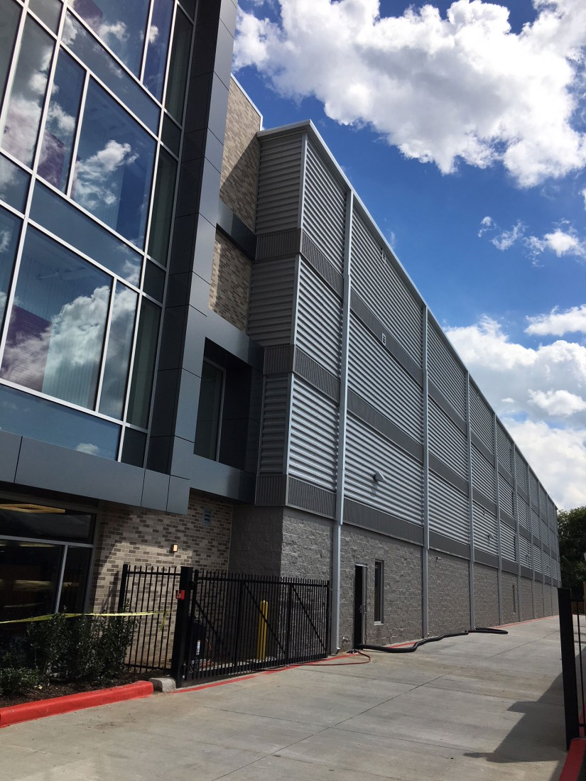 Bellaire CubeSmart Storage, Houston, TX, Schwob Building Company, Archcon Architecture, CEI Materials W5000 MCM Panels, MBCI Horizontal Wall Panel, MBCI Vertical Wall Panel