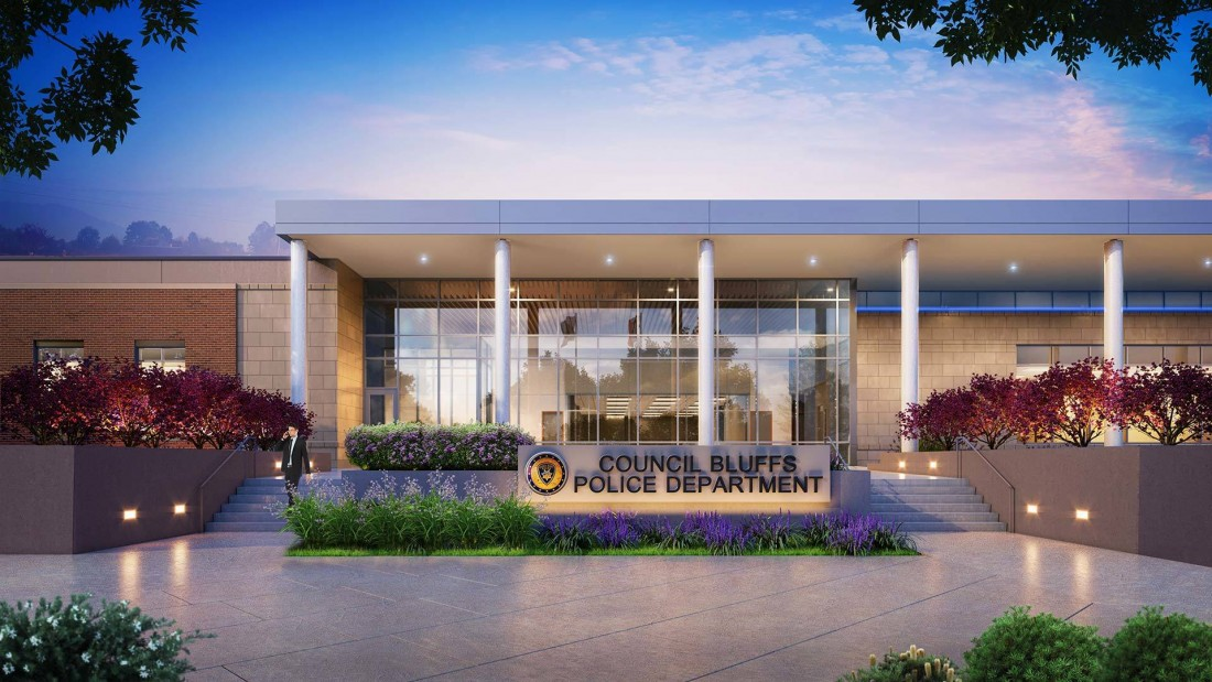 Council Bluffs Police Headquarters by Hoefer Wysocki Architects, Rendering