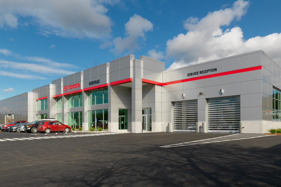 Heritage Automotive Group Toyota Sales Service Expansion, Vermont, Scott Partners Architecture, Engelberth Construction, Photography Susan Teare