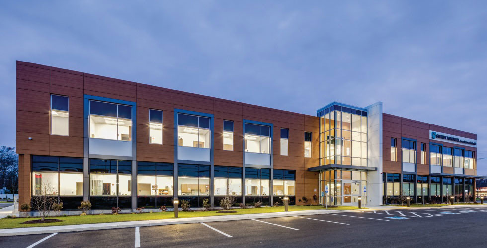 Study Memorial Medical Office Plainville Design, Maugel Architects, Dellbrook JKS, Building Envelope Systems, CEI Materials, Photography Maugel Architects