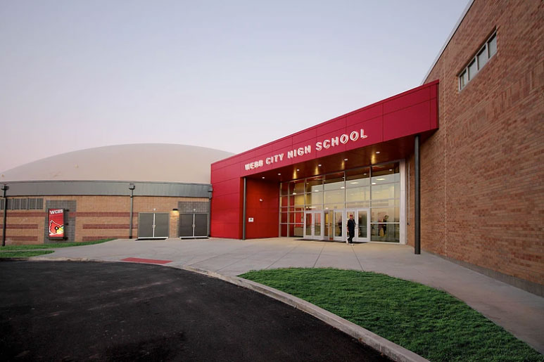 Webb City Highschool FEMA Dome, Incite Design Studio, Toth Associates, Dome Technology, SGH Inc, CEI Materials R4000, Photograph Incite Design Studio